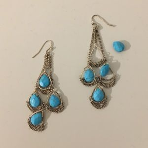 Kendra Scott Turquoise Tiered Earrings